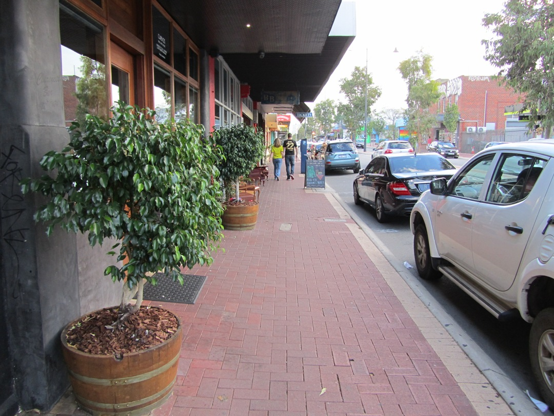 Bring plants on to the street makes it much more pleasant and interesting for pedestrians