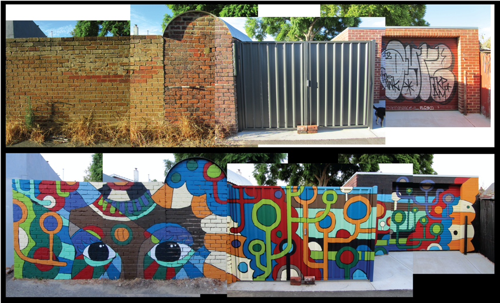 Street art can turn a forgotten space in to an interesting place