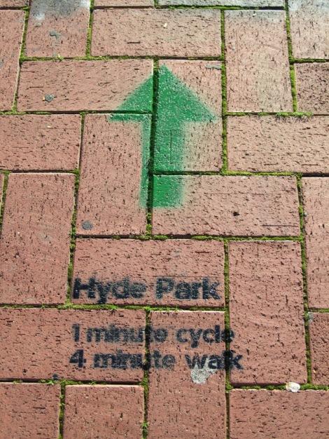 Hyde Park Wayfinding Stencil