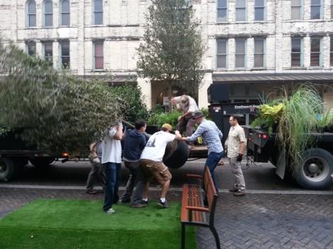Locals creating a better street in San Antonio, Texas, USA