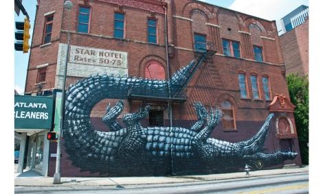 Adding interest and curiosity through street murals