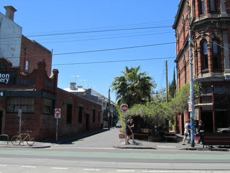 Side street parklet Brunswick Street
