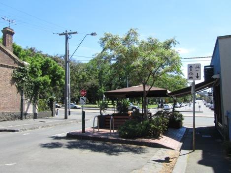 Side street parklet in Carlton