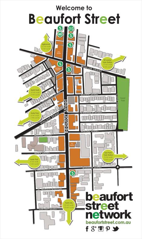 Beaufort Street Map