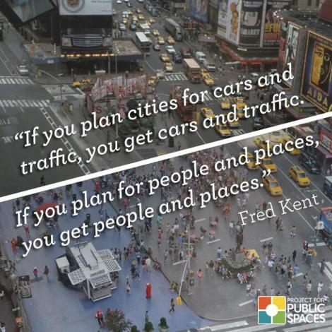 Times Square was a place for cars. Now it is becoming a place for people. This change of focus actually improved car trip times as well!