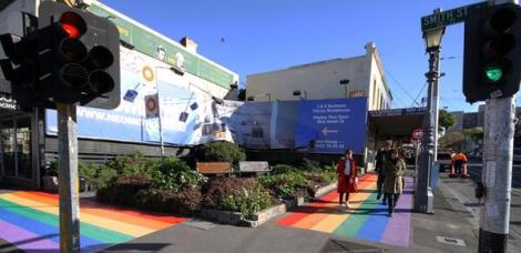 Fitzroy rainbow footpath